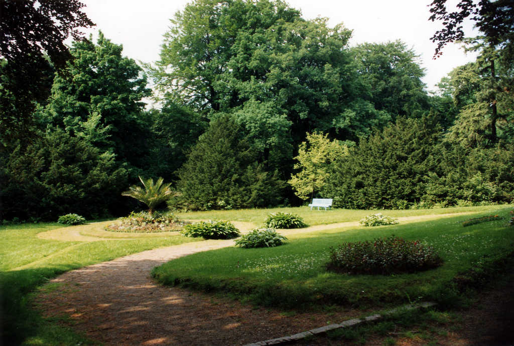 Bepflanztes Rondell im Park